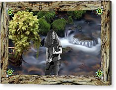 Acrylic Print featuring the photograph Creek Music #1 With Redwood Framing by Ben Upham