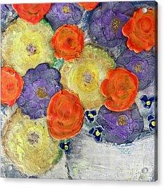 Crochet Bouquet Acrylic Print