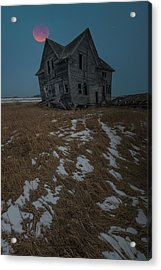 Acrylic Print featuring the photograph Crooked Moon by Aaron J Groen