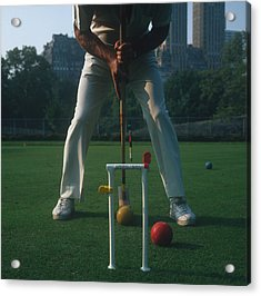 Croquet Player Acrylic Print by Slim Aarons