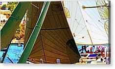 Crossing Sails Acrylic Print