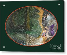 Crossing Timber Bridge Acrylic Print