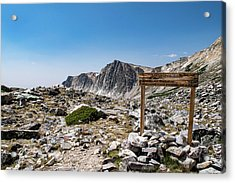 Crossroads At Medicine Bow Peak Acrylic Print
