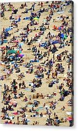 Crowd Acrylic Print by By Ken Ilio