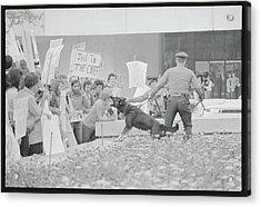 Crowd Protesting President Nixon Acrylic Print by Bettmann