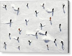 Crowded Holiday Acrylic Print