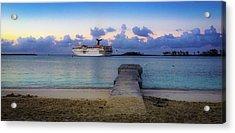 Acrylic Print featuring the photograph Cruise Ship Bahamas by Mark Duehmig
