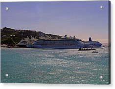 Acrylic Print featuring the photograph Cruise Ships by Tony Murtagh