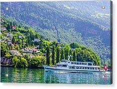 Cruising Lake Lucerne Acrylic Print