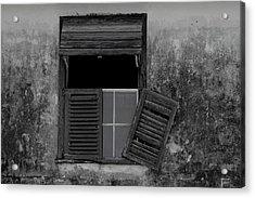 Crumblling Window Acrylic Print