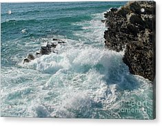 Crushing Waves In Porto Covo Acrylic Print