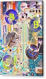 Cryptocurrency Circuitry Acrylic Print