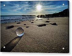 Crystal Ball Sunset Acrylic Print