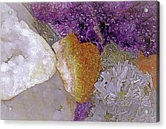 Acrylic Print featuring the mixed media Crystal Stand 14  by Lynda Lehmann