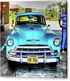 Cuban Taxi Acrylic Print