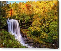 Acrylic Print featuring the photograph Cullasaja Falls In Full Bloom by Andy Crawford