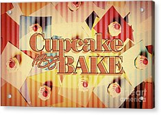 Cupcake Bake 1958 Acrylic Print