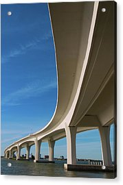 Curved Bridge Overpass Over The Water Acrylic Print by Dsharpie
