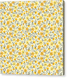 Cute Pattern In Small Flower. Small Acrylic Print