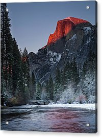 Cutting Half Dome Acrylic Print by Chase Dekker Wild-life Images