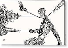 Cyborg Recharge Acrylic Print