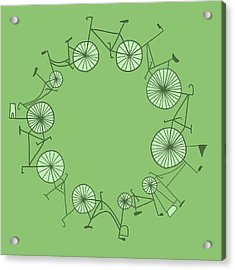Cycle Acrylic Print by Illustrations