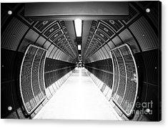 Cylindric Tunnel For Pedestrians Acrylic Print