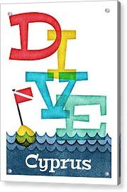 Cyprus Dive - Colorful Scuba Acrylic Print