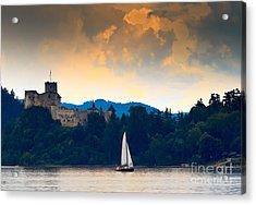 Czorsztyskie Lagoon Castle Niedzica - Acrylic Print