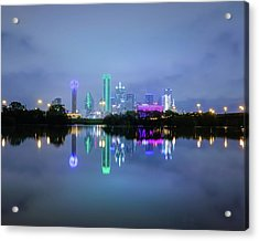 Acrylic Print featuring the photograph Dallas Cityscape Reflection by Robert Bellomy
