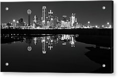 Dallas Texas Cityscape Reflection Acrylic Print