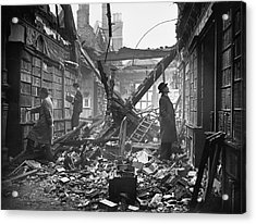 Damaged Library Acrylic Print by Central Press