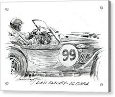 Dan Gurney Racing Ac Cobra 289 Acrylic Print