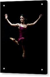 Dancer Posing In Mid Air Acrylic Print