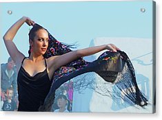 Dancer With Shawl Acrylic Print by Digby Merry