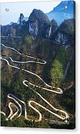 Dangerous Path In China Acrylic Print