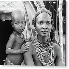 Dassanech Mother And Baby 2 Acrylic Print