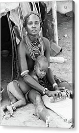 Dassanech Mother And Child Acrylic Print