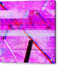 Acrylic Print featuring the digital art Databending #1 by Bee-Bee Deigner