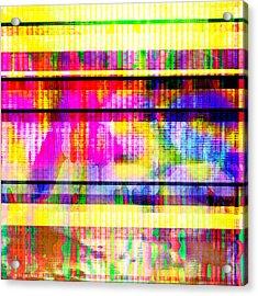 Acrylic Print featuring the digital art Databending #2 Hidden Messages by Bee-Bee Deigner