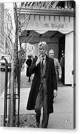 David Bowie Acrylic Print by Art Zelin