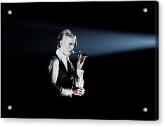 David Bowie In Detroit Acrylic Print by Donaldson Collection
