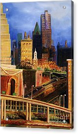 Dawn At City Hall Acrylic Print