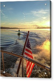 Acrylic Print featuring the photograph Dawn On The Sassafras River by Mark Duehmig