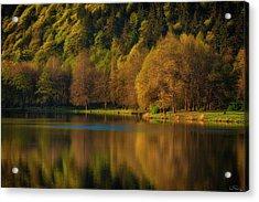 Dawn's Light Along A Lakes Shore Acrylic Print