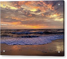 Acrylic Print featuring the photograph Day After Storm 9/16/18 by Barbara Ann Bell