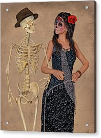 Day Of The Dead Costume Party Acrylic Print