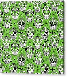 Day Of The Dead Sugar Skull Seamless Acrylic Print