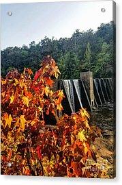 Acrylic Print featuring the photograph De Soto Falls In Autumn by Rachel Hannah