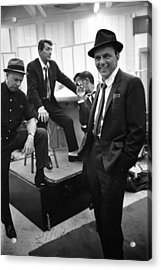 Dean Martinsammy Jr. Davisfrank Sinatra Acrylic Print by Gjon Mili